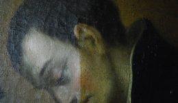 Schadensbild 7b_Aloisius von Gonzaga, Öl auf Leinwand, 18. Jahrhundert