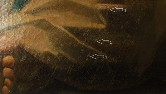Schadensbild 15_Philosoph, A. R. Mengs_Zustand vor der Restaurierung