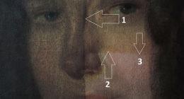 Schadensbild 4b_Frauenportrait Biedermeier_Oberflächenschmutz und vergilbter Firnis