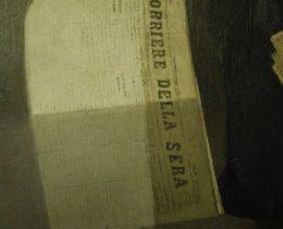 Schadensbild 4f_Zeitungsverkäufer, signiert Giulio del Torre