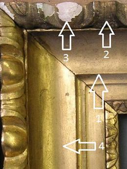 Schadensbild 14a_Ochsenaugenrahmen_Zustand während der Restaurierung