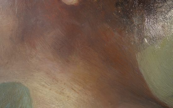 Schadensbild 16b_Frauenporträt, 20. Jahrhundert, Öl auf Holz_Zustand nach der Restaurierung